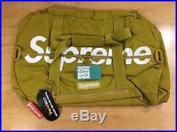Supreme 210D Cordura Ripstop Nylon Duffle Bag 20L Gold White Box Logo TNF CDG