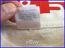 Supreme 9/11 BOX LOGO Tee Shirt WHITE SIZE LARGE 100% AUTHENTIC