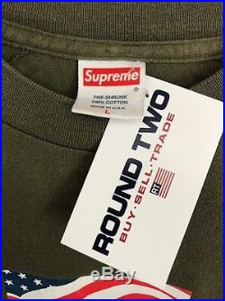 Supreme 9/11 Olive Box Logo Large