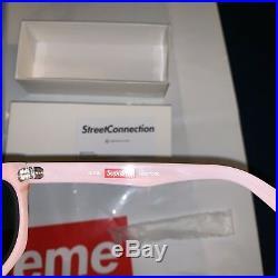 Supreme Alton Sunglasses Pink Box Logo Red Black White Bone 2016 2017 New W Flaw