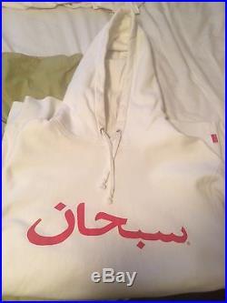 Supreme Arabic Box logo hoodie sweatshirt palace bape nmd tnf