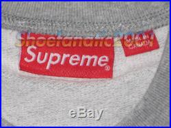 Supreme Athletic Split Crewneck Large Grey Box Logo Striped Jordan Nautical