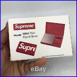 Supreme Aws Max-700 Digital Scale Red Fw18 2018 Accessory White Box Logo Cdg Tnf