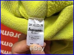 Supreme BOX LOGO Hooded Sweatshirt ACID GREEN FW 12 SIZE LARGE 100% AUTHENTIC