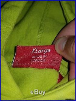 Supreme BOX LOGO Hooded Sweatshirt ACID GREEN FW 12 SIZE X-LARGE 100% AUTHENTIC