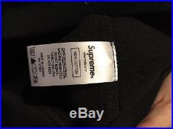 Supreme BOX LOGO Hooded Sweatshirt BLACK SIZE Small
