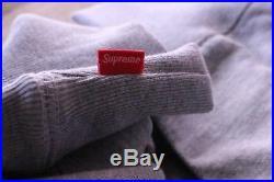 Supreme BOX LOGO Hooded Sweatshirt GREY FW 16 SIZE SMALL