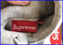 Supreme BOX LOGO Hooded Sweatshirt GREY FW 2012 SIZE MEDIUM 100% AUTHENTIC