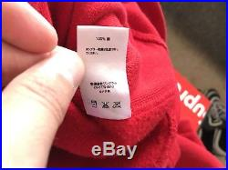 Supreme BOX LOGO Hooded Sweatshirt RED FW 16 SIZE XL 100% AUTHENTIC