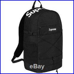 Supreme Backpack Black SS16 210 Denier Cordura Box Logo