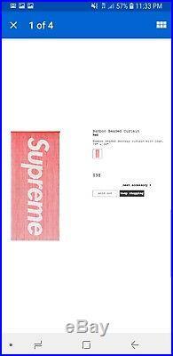 Supreme Bamboo Beaded Curtain Red Ss17 Box Logo
