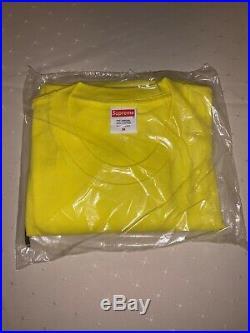 Supreme Bandana Bogo Box Logo Tee In Hand Yellow Size Medium 100% Authentic