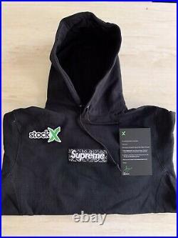 Supreme Bandana Box Logo Hooded Size L Black Hoodie