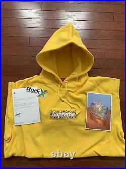 Supreme Bandana Box Logo Hooded Size L Canary Hoodie
