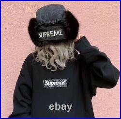 Supreme Bandana Box Logo Hooded Size L Navy Hoodie
