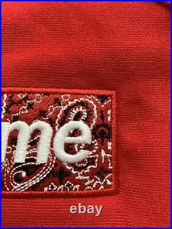 Supreme Bandana Box Logo Hooded Size S Red Hoodie