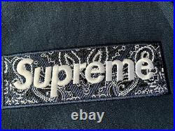 Supreme Bandana Box Logo Hooded Size XL Navy Hoodie