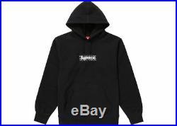 Supreme Bandana Box Logo Hooded Sweatshirt (Black) SIZE MEDIUM