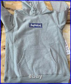 Supreme Bandana Box Logo Hooded Sweatshirt Gray XL