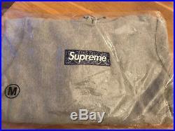 Supreme Bandana Box Logo Hooded Sweatshirt Heather Grey Medium Hoodie M