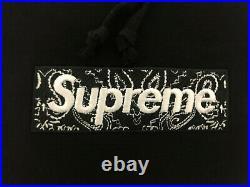 Supreme Bandana Box Logo Hoodie Black FW19 Extra Large