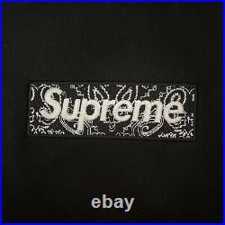 Supreme Bandana Box Logo Hoodie FW 2019 Black Medium