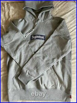Supreme Bandana Box Logo Hoodie Gray Size Large