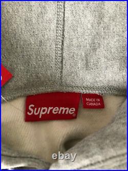 Supreme Bandana Box Logo Hoodie Grey FW19 Size L