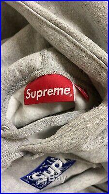 Supreme Bandana Box Logo Hoodie Heather Grey Size Medium