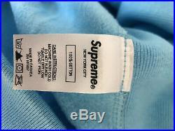 Supreme Bandana Box Logo Hoodie Light Blue FW19 Extra Large