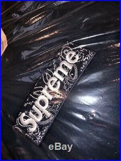 Supreme Bandana Box Logo Hoodie Navy L Brand New Unopened