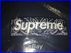 Supreme Bandana Box Logo Hoodie Navy Large IN HAND