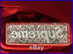 Supreme Bandana Box Logo Hoodie Red FW19 Size L