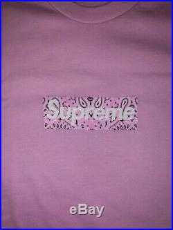Supreme Bandana Box Logo Tee XL Light Pink