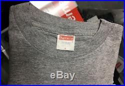 Supreme Barbara Kruger Box Logo Tee Shirt 1997 Gray Rare Medium Vintage