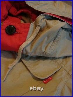 Supreme Beige Tan Red Lightweight Parka Box Logo XL X-Large Rare