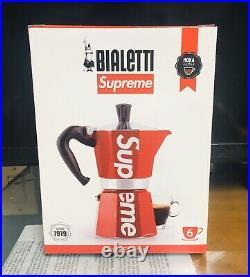 Supreme Bialetti Moka Express Coffee Maker SS19 BOX LOGO. Rare. VHTF. A+Seller