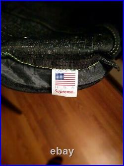 Supreme Black Box Logo 5 Panel Hat Green 9/10