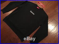 Supreme Black Box Logo Crewneck Sweatshirt XL Black AUTHENTIC Cdg Tnf Boost Et