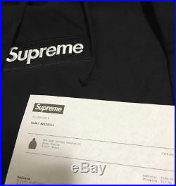 Supreme Black Box Logo Hoodie Bogo Season F/W16 Size Medium Mens NEW + Receipt