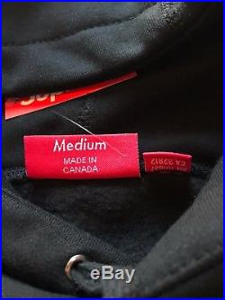 Supreme Black Box Logo Hoodie FW17 New Colorways New with Tag Size Medium