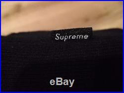 Supreme Black Box Logo Hoodie- Large