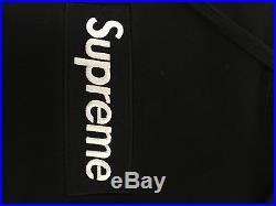 Supreme Black Box Logo Hoodie Size Large