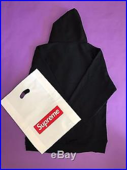 Supreme Black Box Logo Hoodie Sz L with Original Supreme Bag