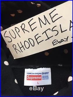 Supreme Black CDG 1 Box Logo Hoodie Size Large F/W 2009