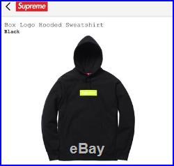 Supreme Black Lime Box Logo Hooded Sweatshirt M Hoodie Bogo Fw17 New Fw 17