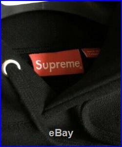 Supreme Black on Black FW16 Box Logo Hoodie MEDIUM