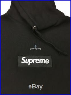 Supreme Black on White Box Logo Hoodie Sweatshirt FW16