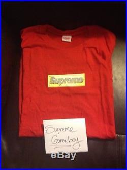 Supreme Bling Shirt XL brand New Dead stock Red SS2013 Box Logo