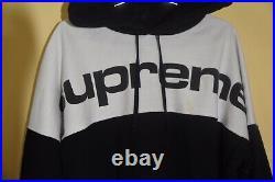 Supreme Blocked Hoodie Hooded Sweatshirt Black Size XL Fw17 CDG Box Logo Yeezy